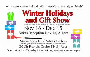 Marin Society of Artists Winter Holiday and Gift Show