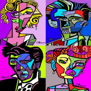 Abstract Famous People by C Baum