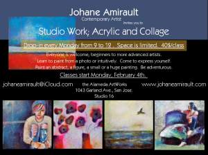 Painting and Acrylic Studio Work Awaken you Creativity