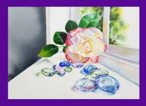 Art Show and Glass Rocks with the Rose