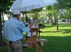 Oil Painting Plein Air Classes at Minna Anthony Common Nature Center Wellesley Island NY