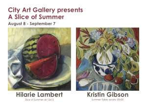 A Slice of Summer at City Art Gallery
