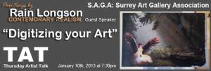 TAT Thursday Artist Talk - Rain Longson