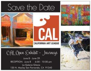 Journeys - a juried Exhibition hosted by  The California Art League
