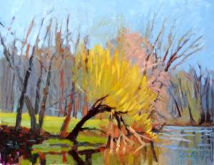 Nyack Library Showing Paintings by Edwin Abreu