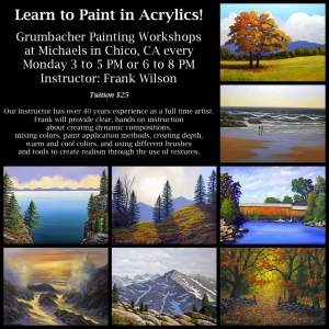 Frank Wilsons Acrylic Painting Workshops in Chico CA