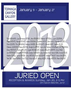 Topanga Canyon Gallery Presents Annual Juried Show 2013 Reception and Awards January 20