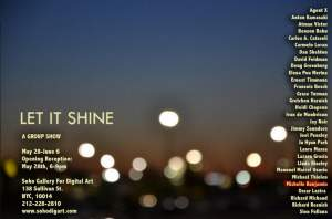 Let It Shine Group Show at Soho Gallery for Digital Art