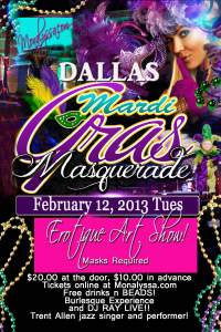 Dallas Mardi Gras Masquerade Erotique Art Show 2013