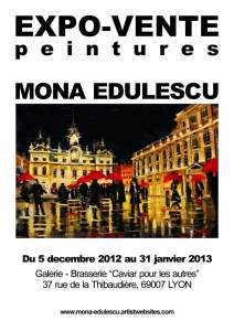 Mona Edulescu Solo Exhibition - Oil Paintings