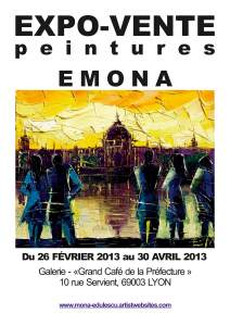 Personal Exhibition Paintings by EMONA in Lyon France