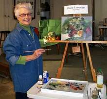 Spring is Here Lets paint Flowers with DKTalmadge at PAA