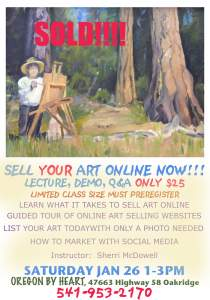 Oregon By Heart Class - Sell Your Art Online NOW