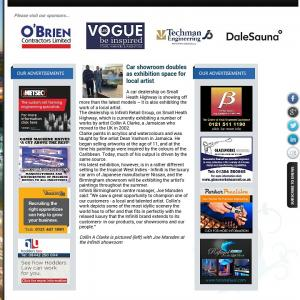 Artist Collin A Clarke In Birmingham Chamber News Article