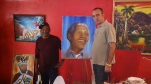 Bahamian Artist Donates Painting Of Mandela To Cuban People
