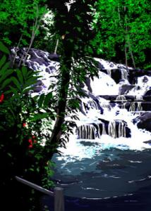 Dunns River Falls, Jamaica. A Beautiful Painting.