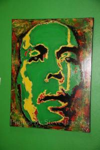 BOB MARLEYS 70TH PAINTING By ANSON