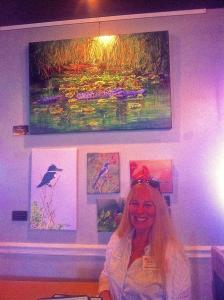 Five Paintings By AnnaJo Featured At The Blue Heron Restaurant